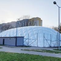 Budowa hali pneumatycznej wraz z zapleczem szatniowym w Warszawie ul. Reymonta
